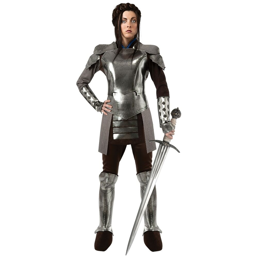 knight costume for women adult renaissance medieval game of thrones fancy dress ebay. Black Bedroom Furniture Sets. Home Design Ideas