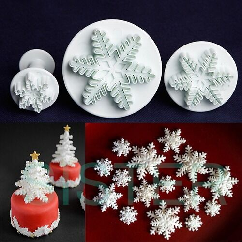 Sugarcraft Cake Decorating And Baking Show : Cake Decorating Snowflake Plunger Cutter Sugarcraft ...