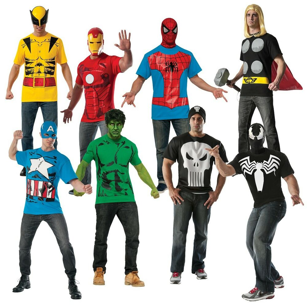 Superhero shirts adult t shirt costume marvel halloween for Costume t shirts online
