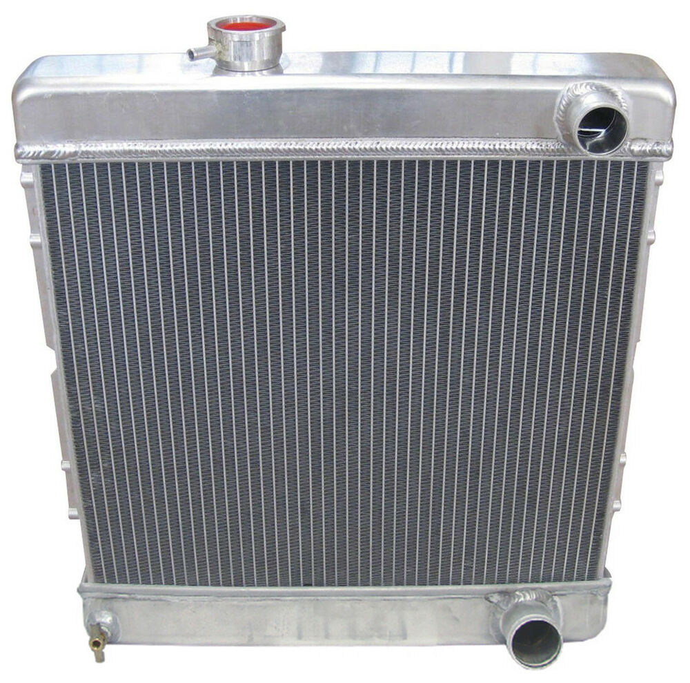 New 1964 66 Ford Mustang Aluminum Downflow Radiator Manual