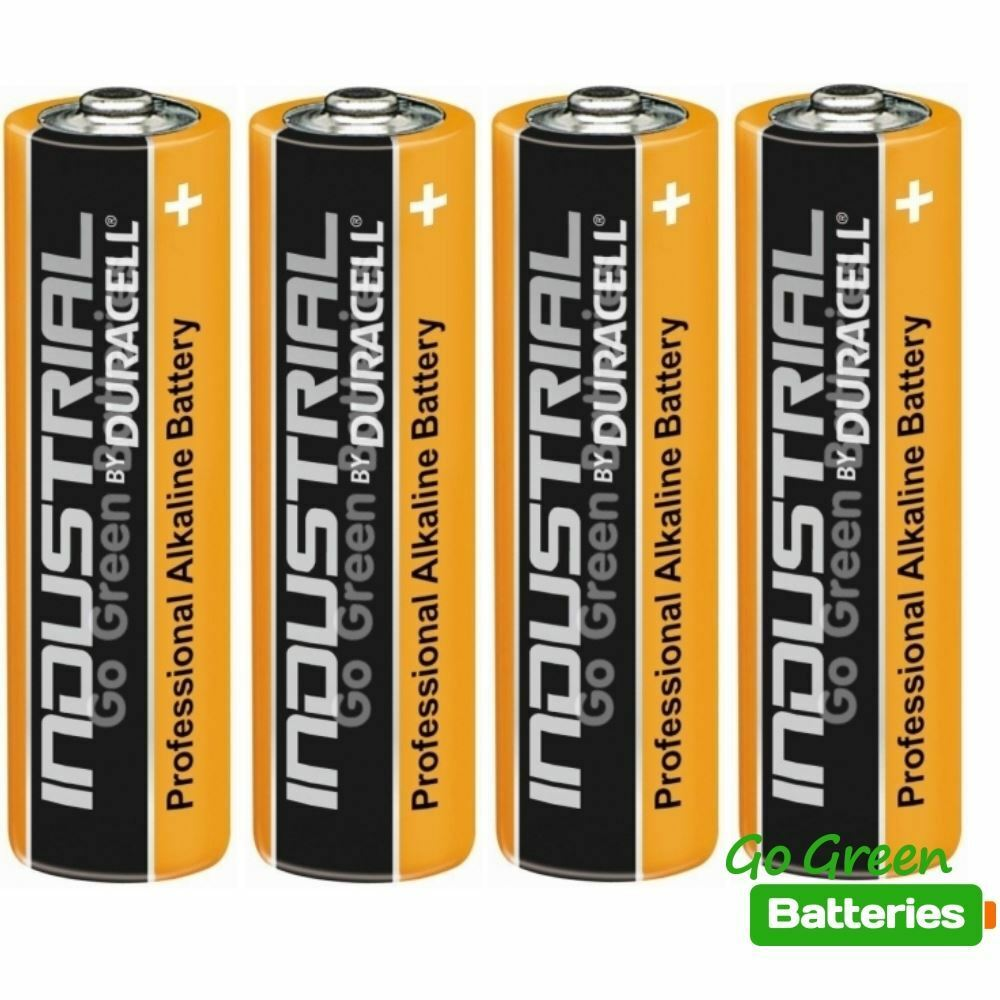 4 x duracell aa industrial alkaline batteries 1 5v lr6 mn1500 replaces procell ebay. Black Bedroom Furniture Sets. Home Design Ideas