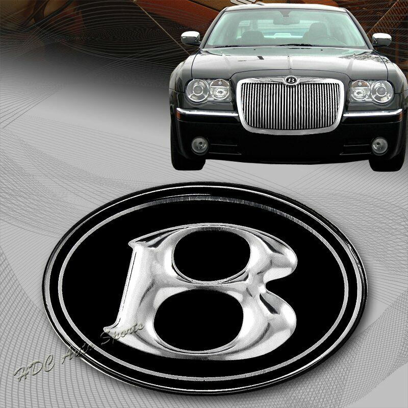 For 2005 2010 Chrysler 300 300c Front Hood Grill Vip Black Chrome B Emblem Logo Ebay