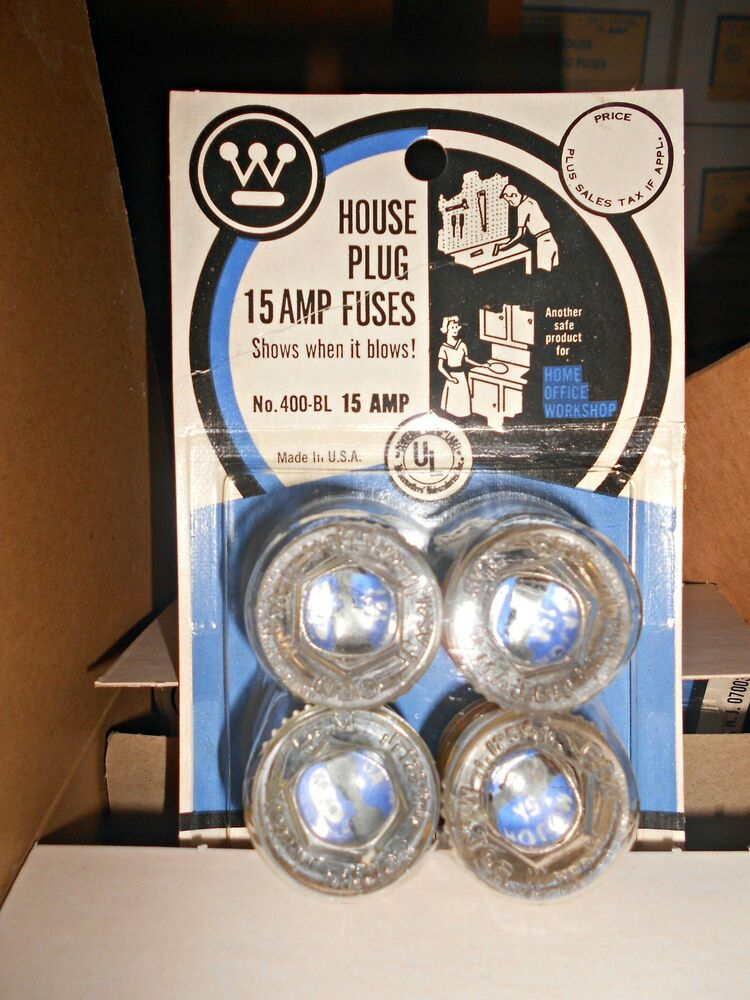 Fuse Box Screw In Fuses : New a household screw plug westinghouse fuse v carded
