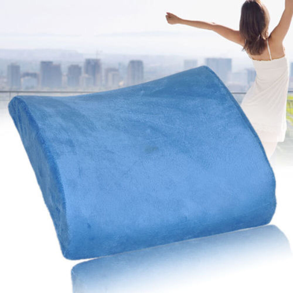 Memory foam seat cushion lumbar back support pillow for for Chair pillow