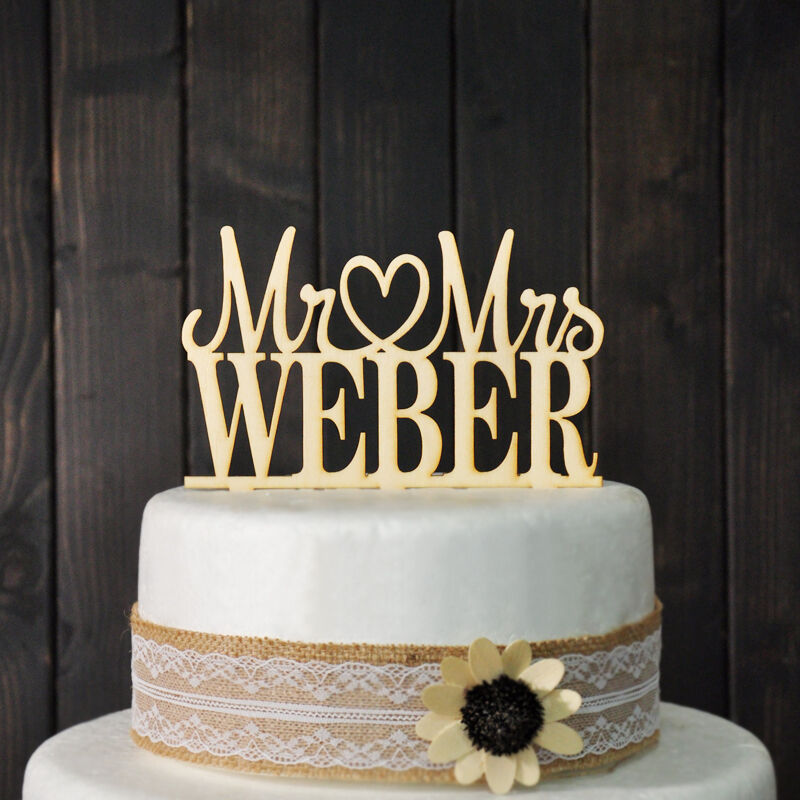 Custom Wedding Cake Topper Mr amp Mrs Personalized Cake