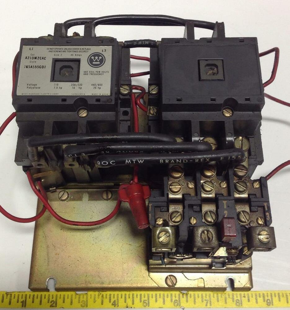 Westinghouse Motor Starter With A210mzcac Ebay