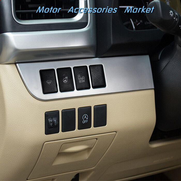 new chrome light switch console dashboard trim for toyota highlander 2014 2017 ebay. Black Bedroom Furniture Sets. Home Design Ideas