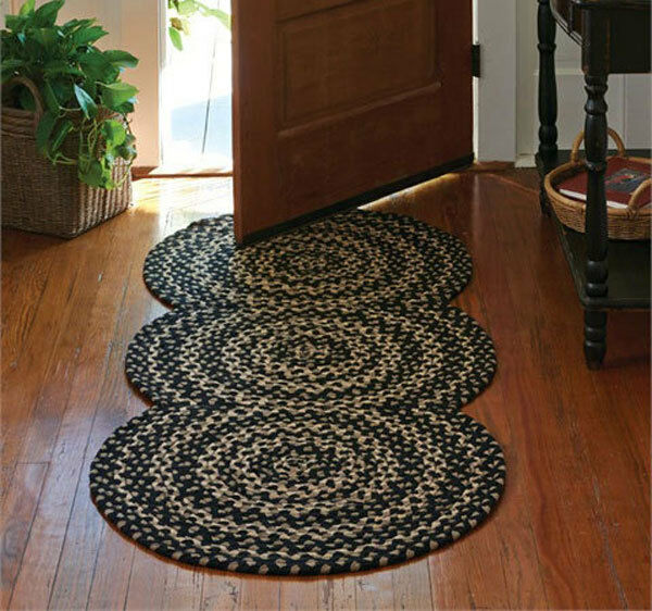Foyer Rugs And Runners : Kendrick braided entryway circle rug runner by park