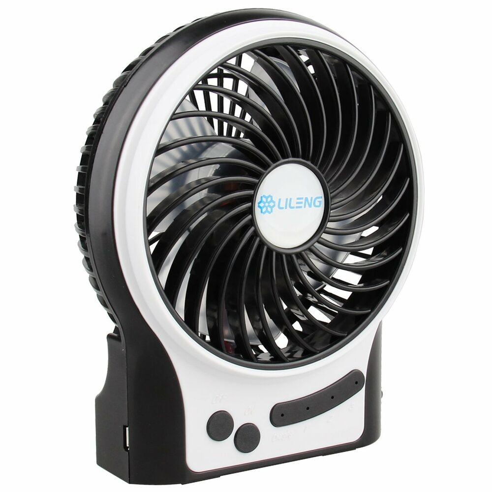 Small Air Fans : Super mute mini fan cooling portable desk pc usb battery