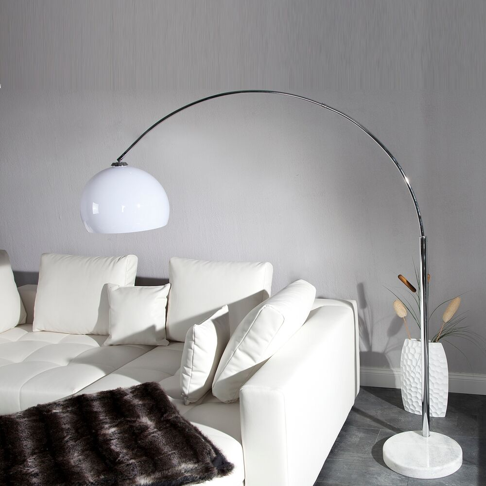 retro design lampe big bow das original wei stehlampe bogenlampe ebay. Black Bedroom Furniture Sets. Home Design Ideas