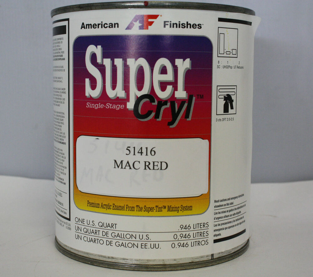 Acrylic Enamel Paint Mac Red Automotive Or Motorcycle