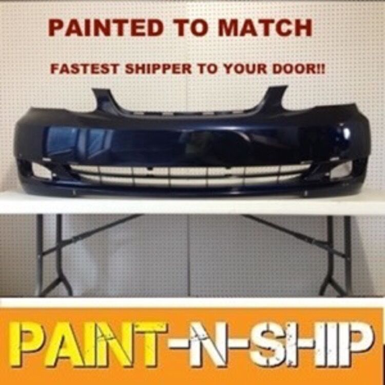2005 Toyota Corolla Ce >> Fits; 2005 2006 2007 2008 Toyota Corolla S Front Bumper Painted (TO1000298) | eBay