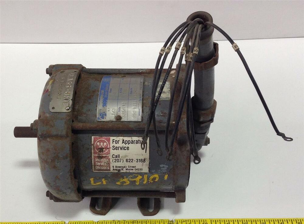 Westinghouse motor 3phase 220 440v 1725rpm 1 3hp 169 for Westinghouse ac motor 1 3 hp