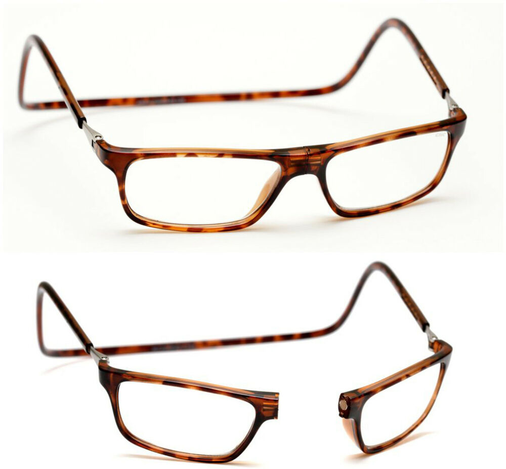 1 50 brown tortoiseshell magnetic click front loop