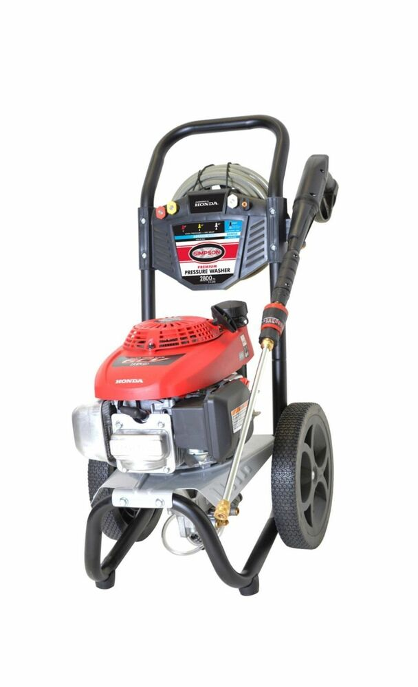 Honda Gcv160 Engine Simpson® MegaShot 2800 PSI 2.3 GPM Gas Pressure Washer ...