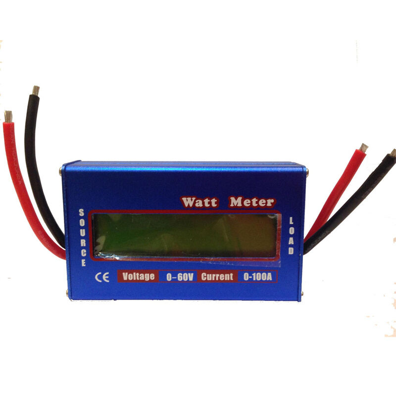 Watt Meter Inline: Digital LCD Watt Meter Battery Balance 60V100A DC RC Volt