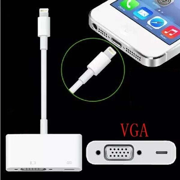 8pin to vga adapter hdtv projector cable sync for ipad 4 for Proyector apple