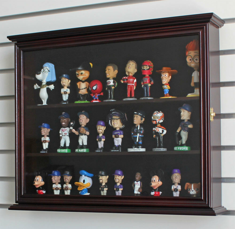 Display Case Wall Cabinet For MINI Bobble Head Wobbler