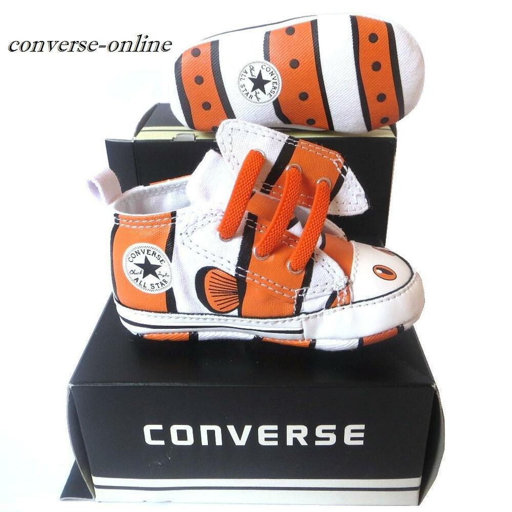 Baby Boy Converse All First Star Clown Fish Slip Crib