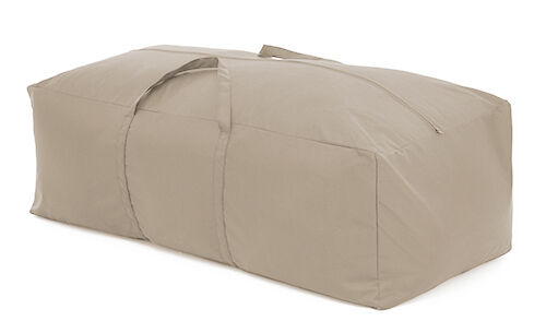 Stone waterproof large cushion storage bag cover garden for Garden furniture cushion covers uk