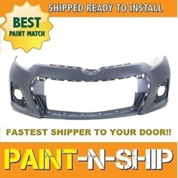 fits 2014 2015 2016 toyota corolla s front bumper painted to1000400 ebay. Black Bedroom Furniture Sets. Home Design Ideas
