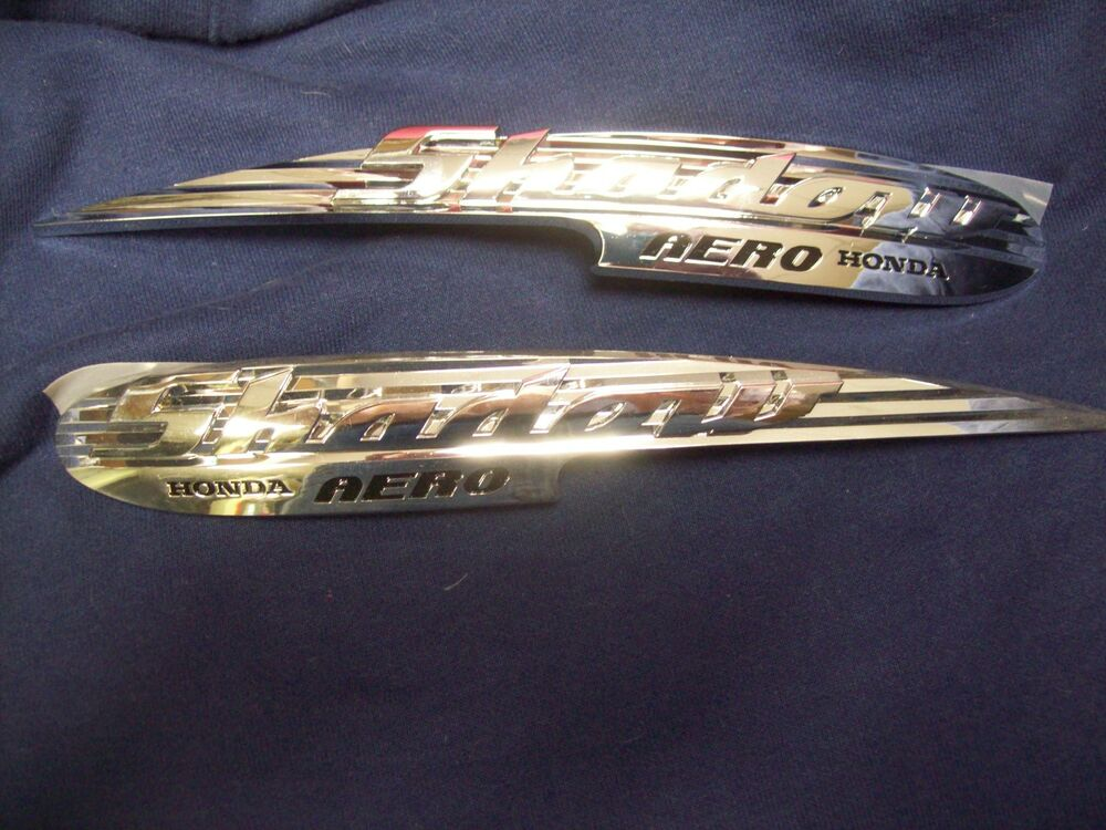 Honda Shadow Motorcycle Chrome Emblems