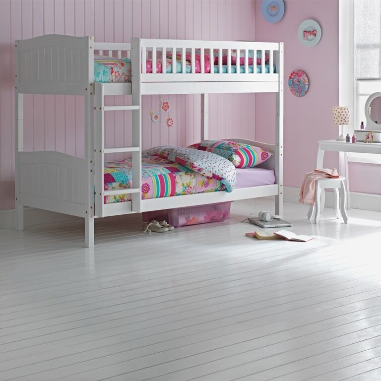 white bunk bed wooden bunk bed childrens white 3ft single rosa with 29520