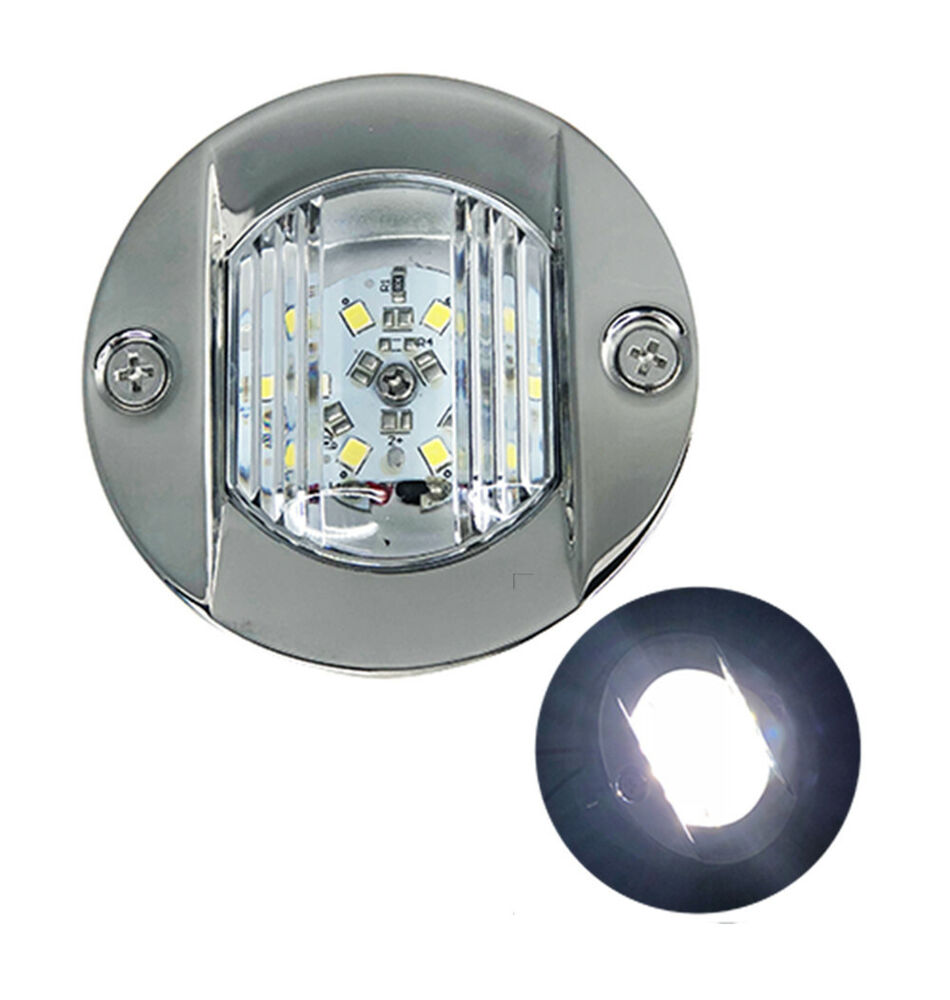 marine transom round led stern light stainless steel. Black Bedroom Furniture Sets. Home Design Ideas