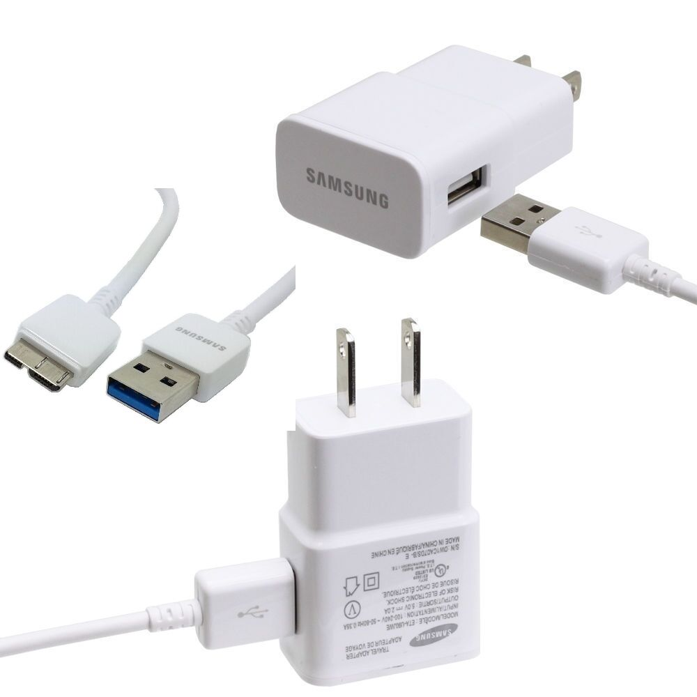 galaxy s5 note 3 original samsung 2 amp rapid wall charger micro usb 3 0 cable ebay. Black Bedroom Furniture Sets. Home Design Ideas