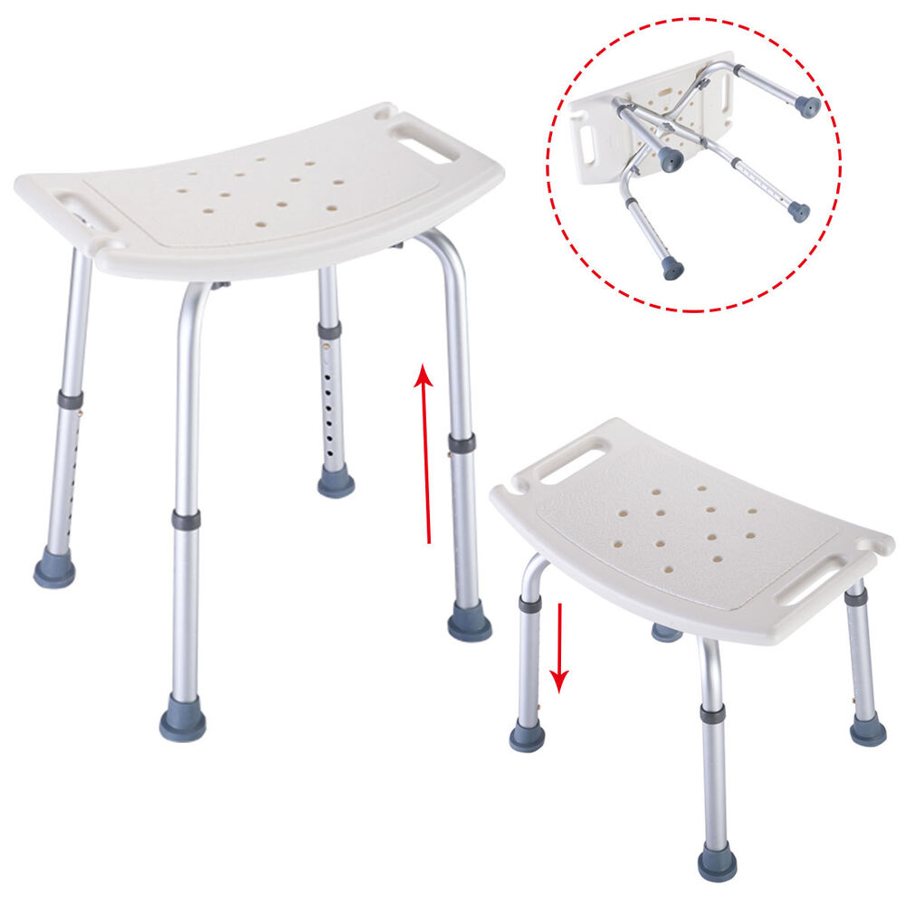 Bath Shower Chair Adjustable Medical 8 Height Bench