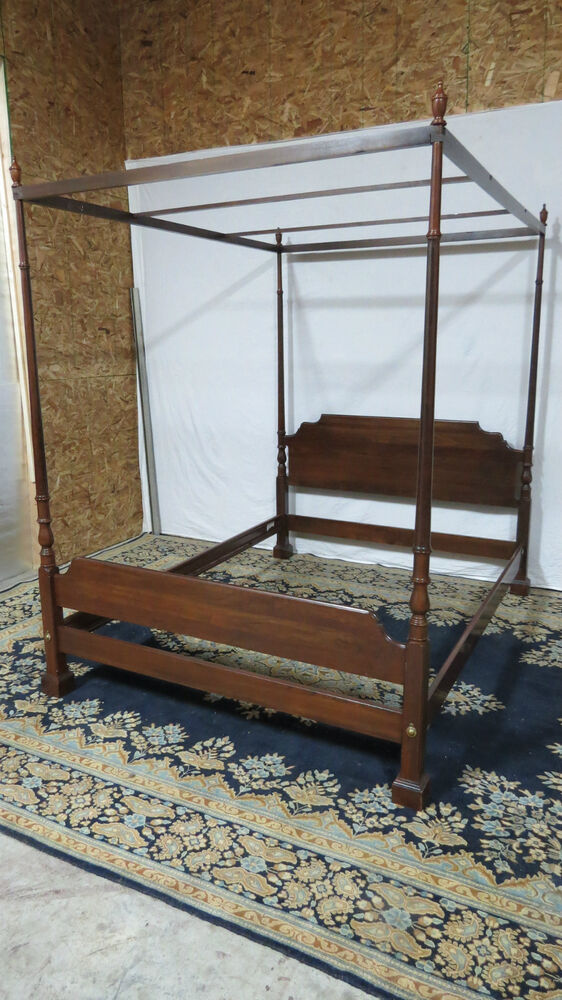 Ethan allen canopy bed lookup beforebuying for Ethan allen king size beds