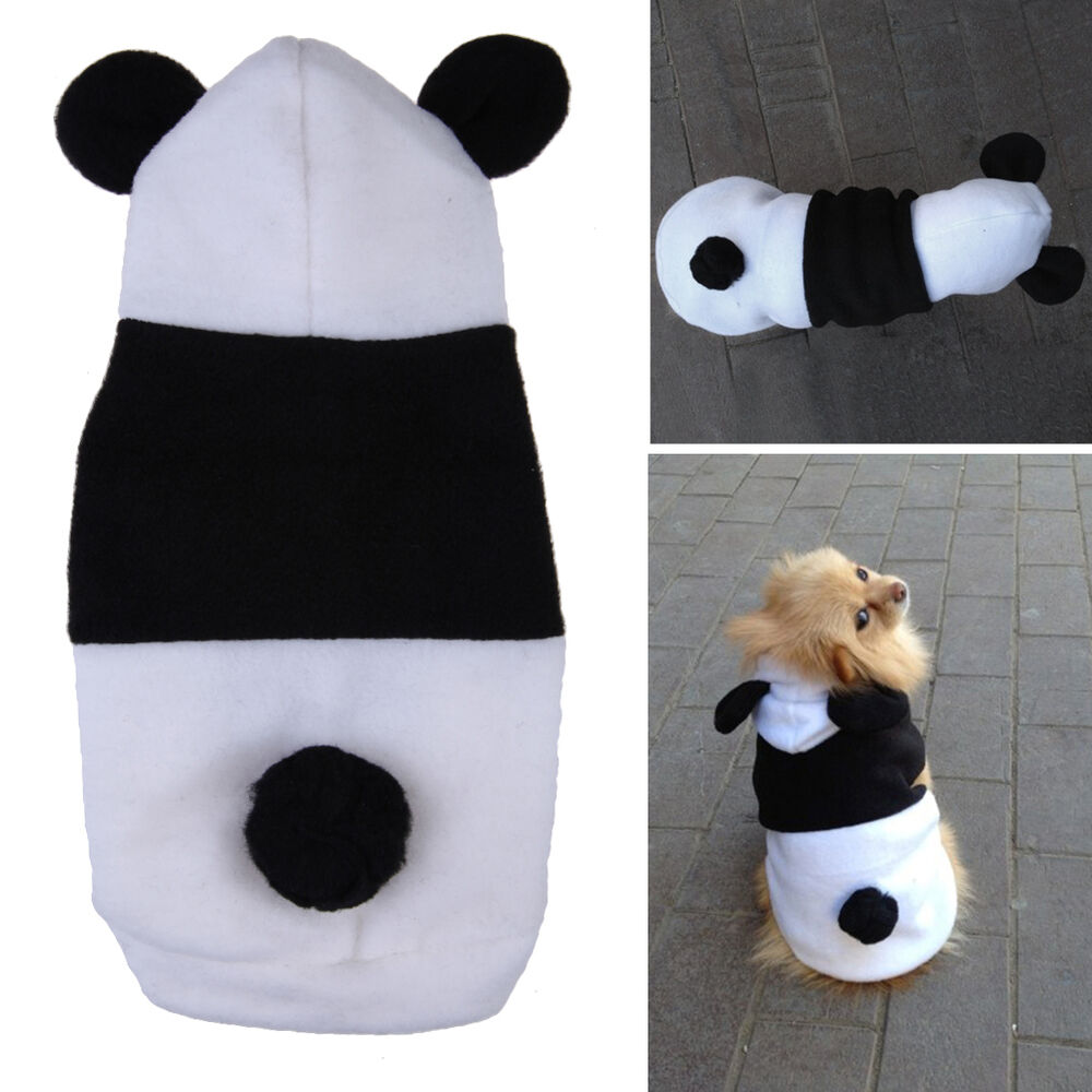Panda clothes warm coat costume outwear apparel for pet dog cat ebay