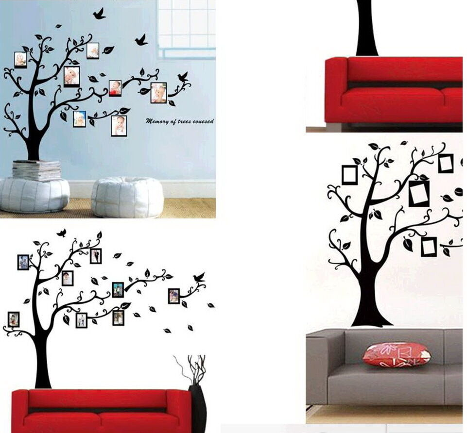 wandtattoo stammbaum familie wanddeko bilderrahmen 90x110. Black Bedroom Furniture Sets. Home Design Ideas