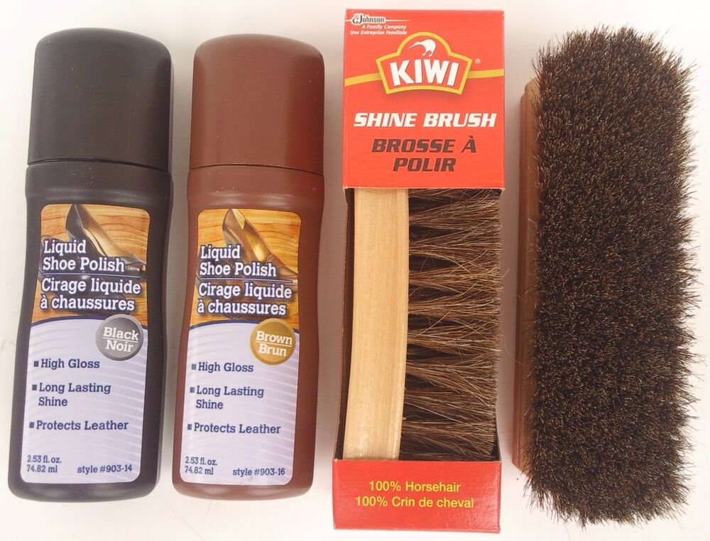 Kiwi Brown Shoe Polish Kit