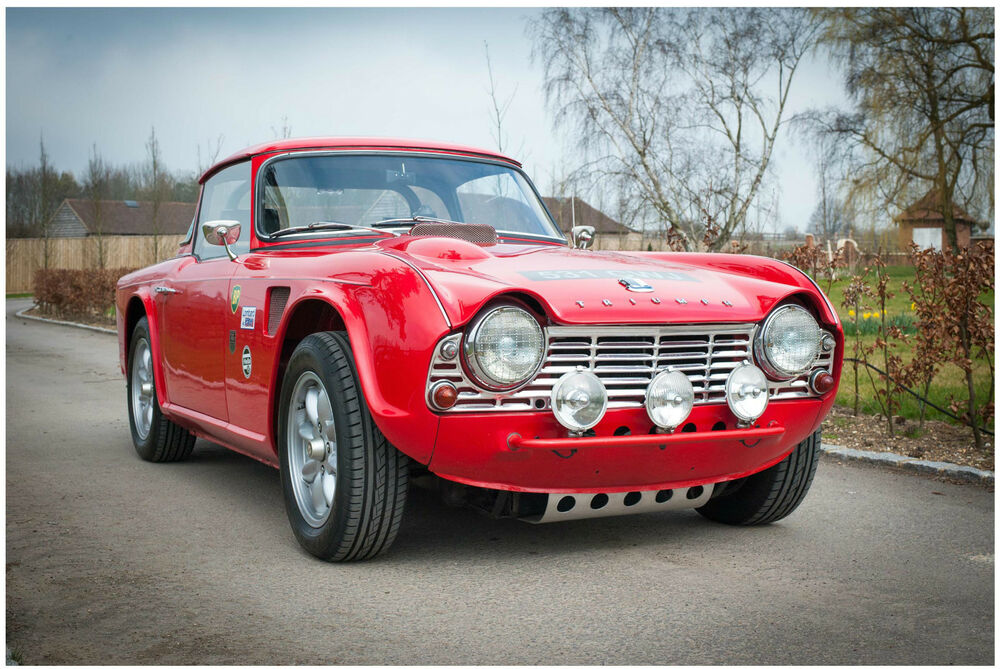 A3 Triumph Tr4 T1 Poster Art Print Buy2get1free Classicrally