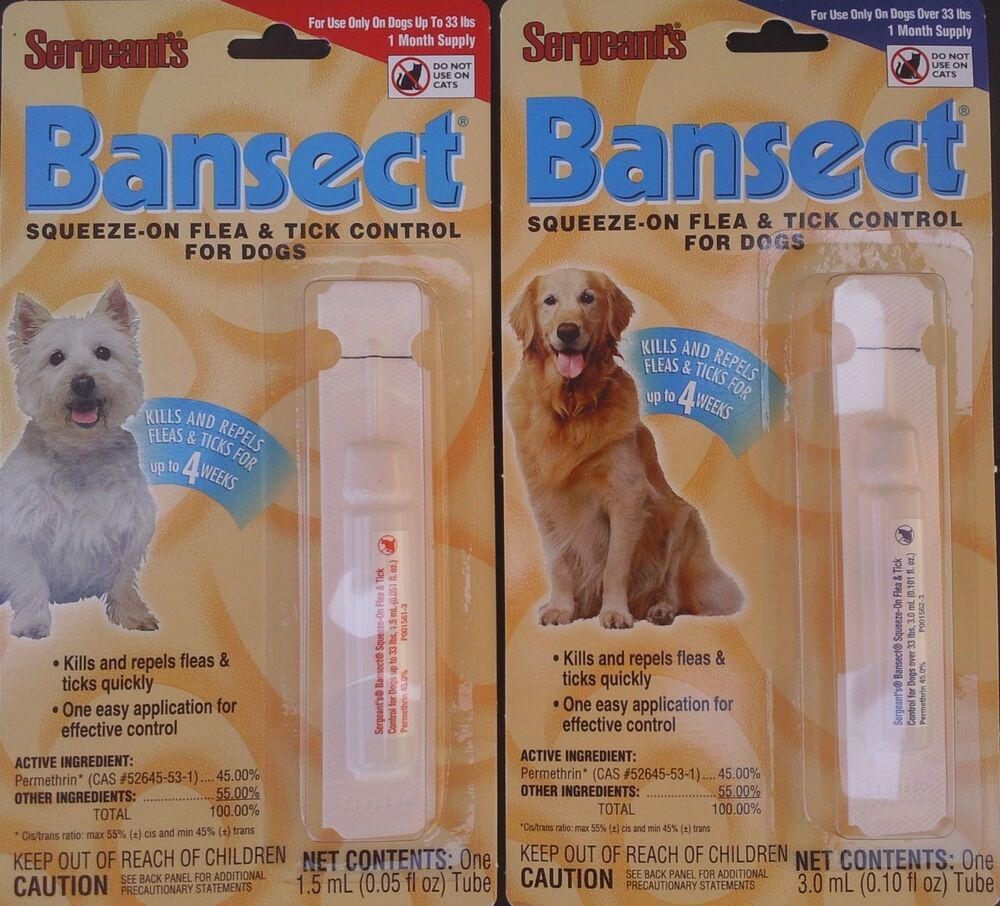 Sergeant S Bansect Squeeze On Flea Amp Tick Control For Dogs