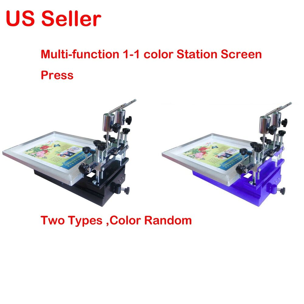 3 in1 single color station screen printing press micro for Single shirt screen printing