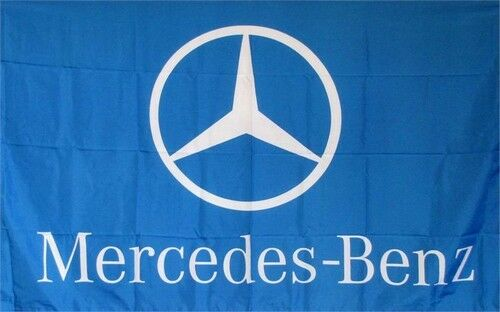 Mercedes benz blue logo dealer banner flag sign ebay for Mercedes benz sign in