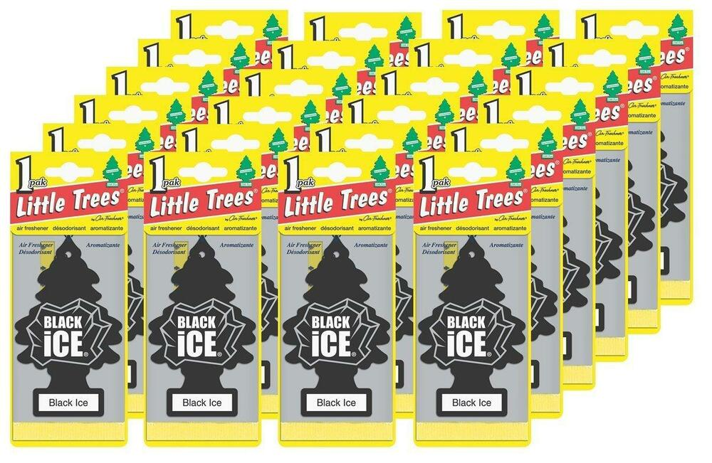 New Car Smell Air Freshener: Little Trees Black Ice Tree Air Freshener Home/Car Scent 6