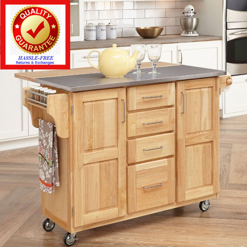 Kitchen Cart Island Rolling Serving Cart Quality