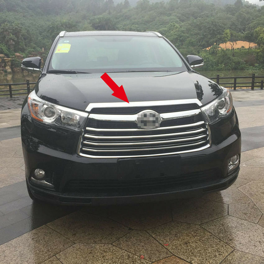 Pictures Of Toyota Highlander: Chrome Front Hood Grill Cover Bonnet Trim For Toyota