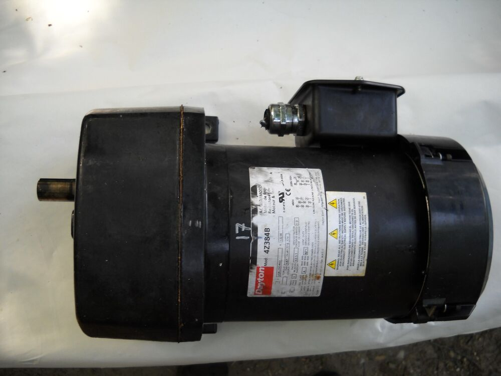 dayton 4z384b ac gear reduction motor three phase ebay
