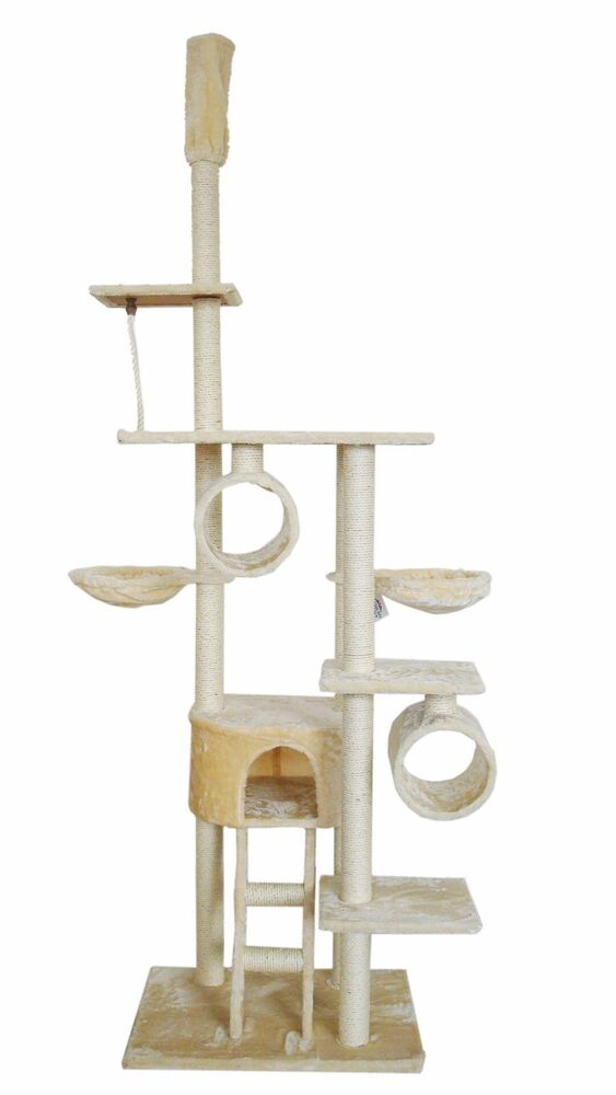 90 cat tree play house tower condo furniture scratch post. Black Bedroom Furniture Sets. Home Design Ideas