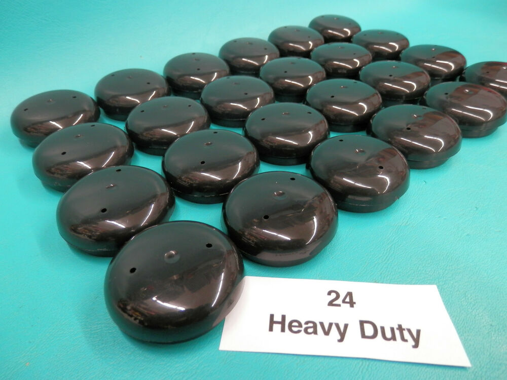 24 Hd Plastic Black Wrought Iron Patio Chair Leg Inserts 1