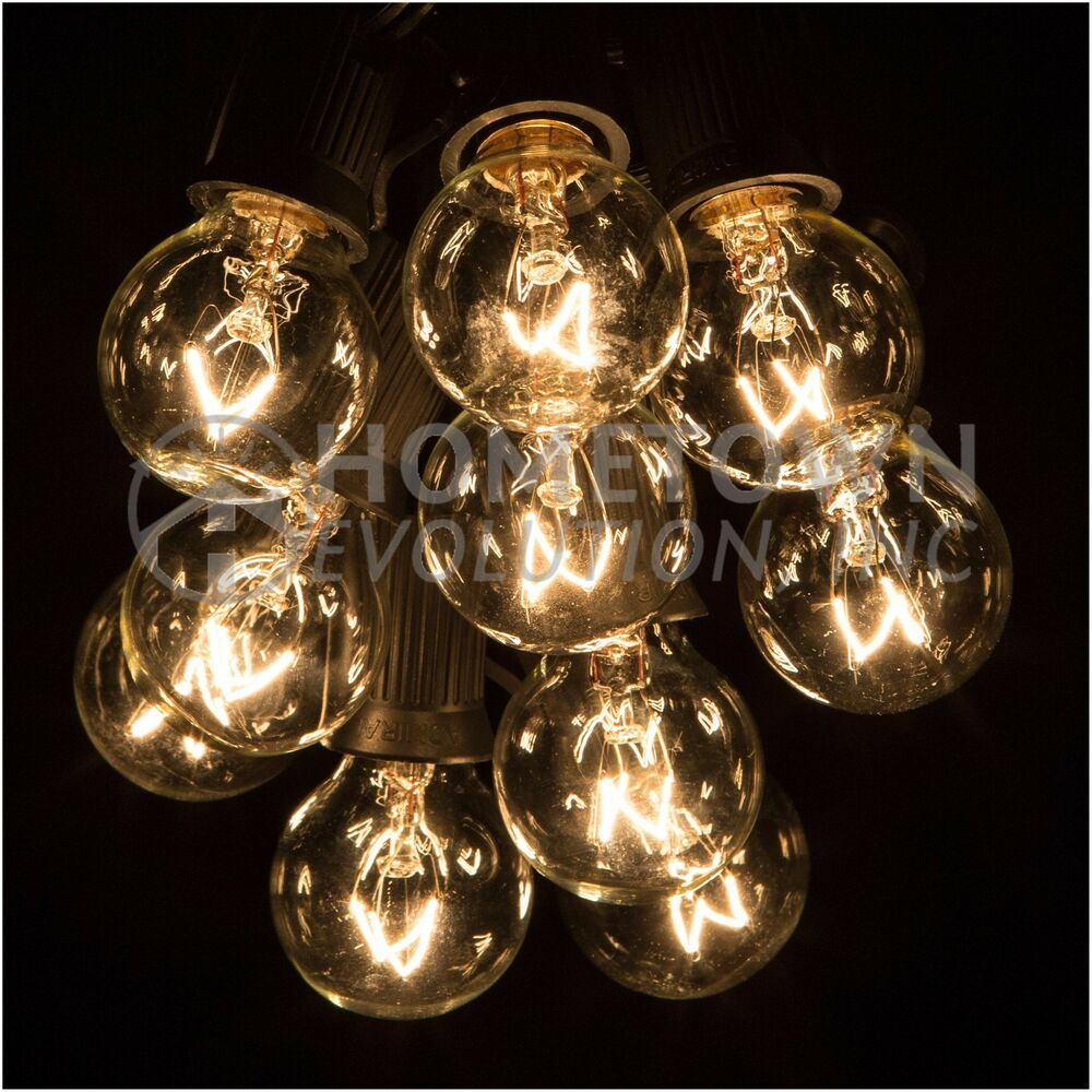 Clear Globe String Lights 100 Ft : G30 Clear Outdoor Patio Globe String Lights (100 , 50 and 25 Lengths) eBay