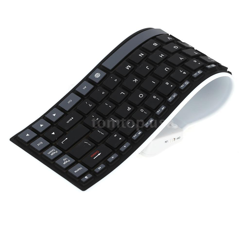 Roll Up Bluetooth Keyboard Android: Flexible Silicone Bluetooth 3.0 Wireless Keyboard Waterproof For Android Laptop