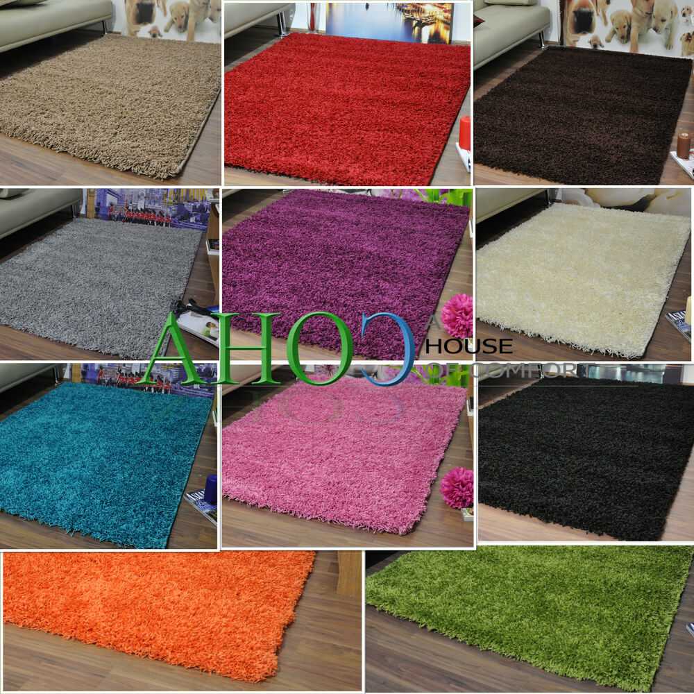 New Extra Large Modern Plain 5cm Shaggy Rugs Cheap Thick