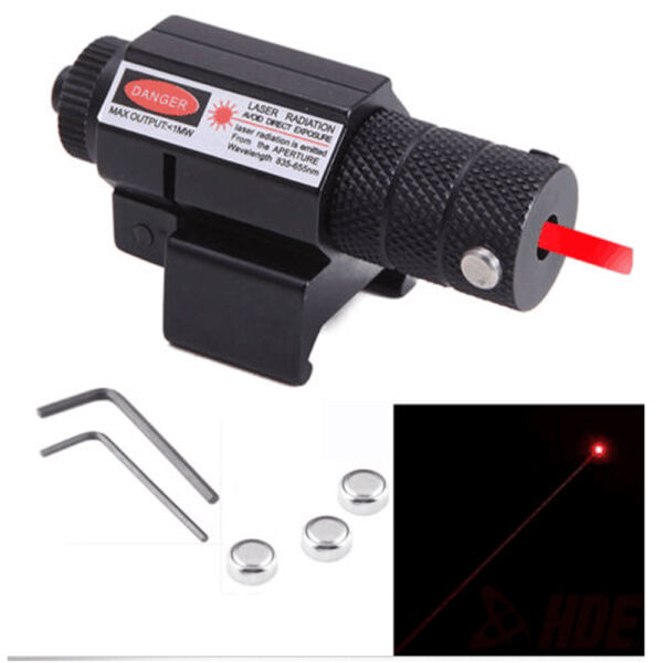 Tactical Red Laser Beam Dot Sight Scope for Gun Pistol Picatinny Mount KN