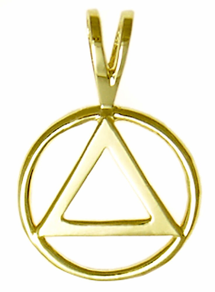 aa alcoholics anonymous symbol jewelry pendant med size