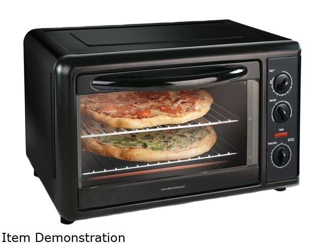 Hamilton Beach 31101 Black Countertop Convection Oven with Rotisserie ...